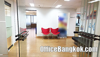 Office Space Partly Furnished for Rent Asoke BTS Station 120 Sqm