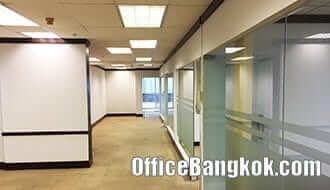 Partly Furnished Office Space for Rent with meeting room and Executive room on Ekamai nearby BTS Ekamai Station