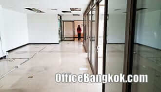 Partly Furnished Office Space for Rent on Ratchada close to Huai Khwang MRT Station