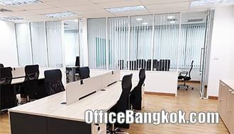 Low Price With Partly Furnished Office Space for Rent on Bangna