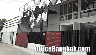 Stand Alone Office Building with Warehouse on Ramkhamhaeng Road near Airport Rail Link Ramkhamhaeng Station